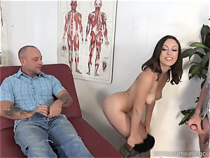 Jade Nile Has Her hubby deep-throat cock and watch Her