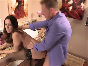 Cassidy Klein gets her pussy submerged deep with salami