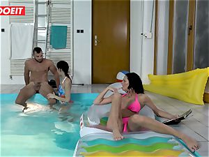 LETSDOEIT - son-in-law ravages StepMom And sis At The Pool