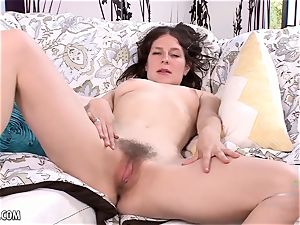 fur covered redhead has fun with a wand