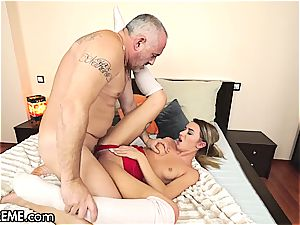 Ballerina Anna Thorne gets a dose of the granddad sausage
