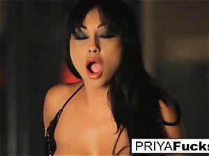 buxom Priya Rai rails the sybian at the unwrap club