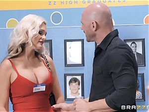 Alena Croft slammed by a meaty dick