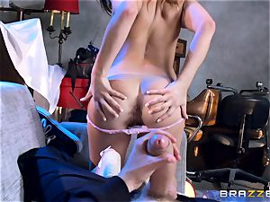 Ashley Adams bangs the enemys ample long penis