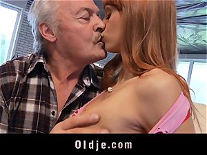 Oldman Gustavo glad to pulverize fantastic Erica Fontes