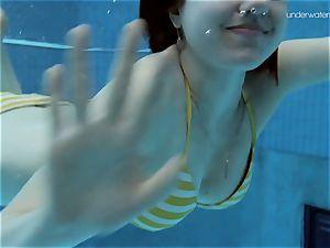 The damsel in striped swimsuit Lada Poleshuk