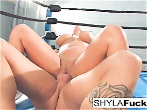 Shyla gets some lessons on wrestling teaching